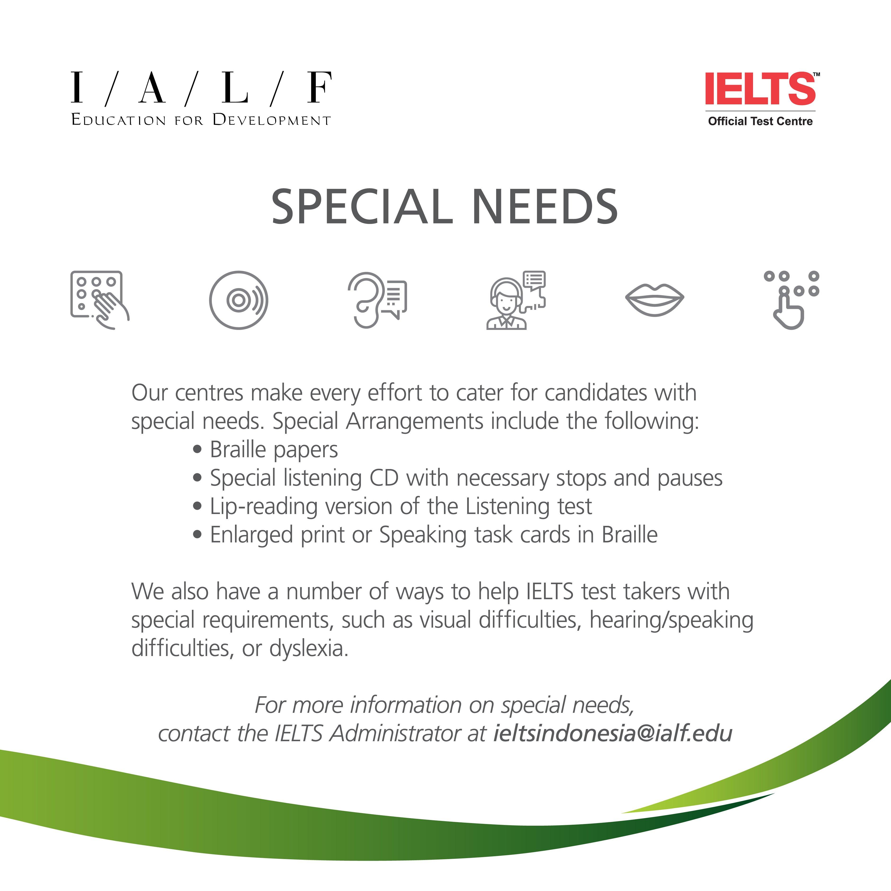 IELTS Test Dates & Locations | IALF Jakarta, Surabaya, Bali