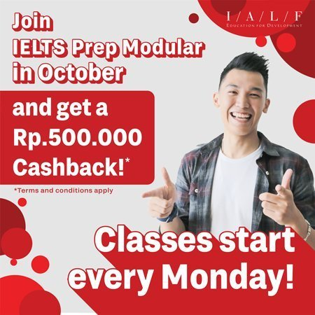 Cashback promo IALF Surabaya - IELTS preparation - IELTS Test