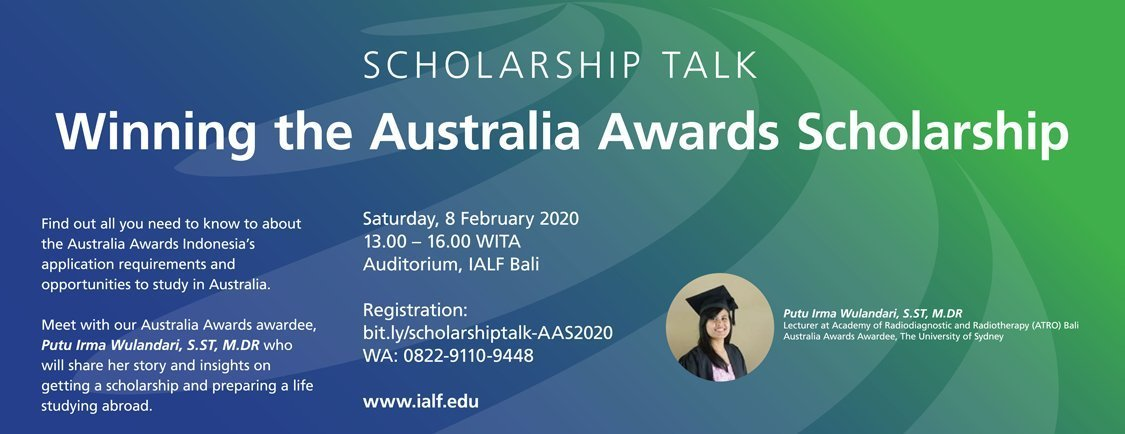 IALF Global Scholarship Talk at IALF Bali